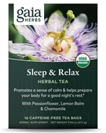 Gaia Herbs - Sleep & Relax RapidRelief Herbal Tea - 20 Tea Bags