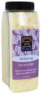 One With Nature - Dead Sea Mineral Bath Salts Lavender - 32 oz.