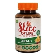 Hero Nutritionals Products - Slice of Life Omega-3 with Chia Seed Gummy Vitamins for Adults - 60 Gummies