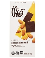 Theo Chocolate - Classic Collection Organic Dark Chocolate 70% Cacao Salted Almond - 3 oz.