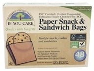 If You Care - Paper Snack & Sandwich Bags 100% Unbleached - 48 Bags
