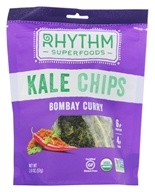 Rhythm Superfoods - Organic Kale Chips Raw Bombay Curry - 2 oz.