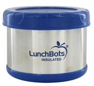 """LunchBots - Insulated Thermal 3.5"""" High x 4.5"""" Wide Dark Blue - 16 oz."""