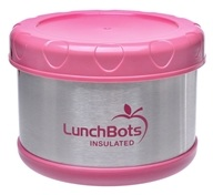 """LunchBots - Insulated Thermal 3.5"""" High x 4.5"""" Wide Pink - 16 oz."""