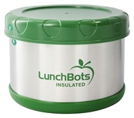 """LunchBots - Insulated Thermal 3.5"""" High x 4.5"""" Wide Green - 16 oz."""