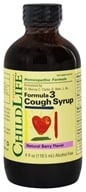 Child Life Essentials - Formula 3 Cough Syrup Natural Berry Flavor - 4 oz.