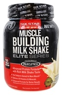 Six Star Pro Nutrition - Elite Series Muscle Building Milk Shake Rich Vanilla Ice Cream - 2 lbs.