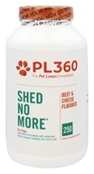PL360 - Shed No More For Dogs Beef and Cheese Flavored - 250 Chewable Tablets