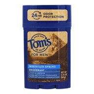 Tom's of Maine - All Natural Long Lasting Men's Wide Deodorant Stick Mountain Spring - 2.25 oz.