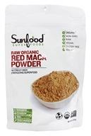 Sunfood Superfoods - Red Maca Powder Nutrient Rich Superfood of Incan Warriors - 8 oz.