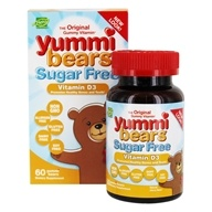 Hero Nutritionals Products - Yummi Bears Sugar Free Children's Vitamin D3 1000 IU - 60 Gummies