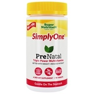 Super Nutrition - Simply One PreNatal Power Vitamins - 90 Tablets