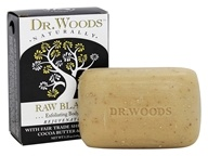 Dr. Woods - 100% Natural Shea Butter Bar Soap Raw Black - 5.25 oz.