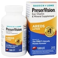 Bausch & Lomb - PreserVision AREDS Formula with Lutein - 120 Softgels