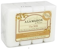 A La Maison - Traditional French Milled Bar Soap Value Pack Oat Milk - 4 x 3.5 oz. Bars