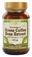 Only Natural - Green Coffee Bean Extract with Svetol 400 mg. - 60 Vegetarian Capsules