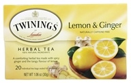 Twinings of London - Herbal Tea Lemon and Ginger - 20 Tea Bags