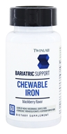 Twinlab - Bariatric Support Chewable Iron Blackberry Flavor - 60 Tablets