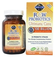 Garden of Life - Raw Probiotics Ultimate Care 34 Probiotic Strains - 30 Vegetarian Capsules