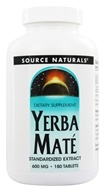 Source Naturals - Yerba Mate Standardized Extract 600 mg. - 180 Tablets