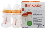Thinkbaby - Twin Pack Stage A 5 fl oz Baby Bottles - 2 Bottle(s) CLEARANCE PRICED