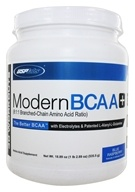 USP Labs - Modern BCAA+ Powder Ultra Micronized Amino Acid Supplement Blue Raspberry - 18.89 oz.