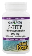 Natural Factors - Stress-Relax 5-HTP 100 mg. - 120 Enteric-Coated Tablets