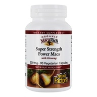 Natural Factors - MacaRich Super Strength Power Maca with Ginseng 500 mg. - 90 Vegetarian Capsules