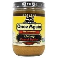 Once Again - Natural Old Fashioned Peanut Butter Creamy No Salt - 16 oz.