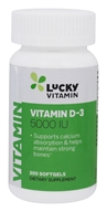 LuckyVitamin - Vitamin D-3 5000 IU - 200 Softgels