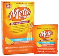Metamucil - Sugar Free MultiHealth Fiber Singles Orange Smooth - 30 x .21 oz. Packets