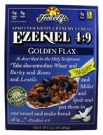 Food For Life - Ezekiel 4:9 Sprouted Whole Grain Cereal Golden Flax - 16 oz.