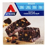 Atkins Nutritionals Inc. - Advantage Snack Bar Triple Chocolate - 5 Bars