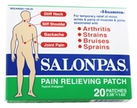 Salonpas - Pain Relieving Patch 2.56 in. x 1.65 in. - 20 Patch(es)