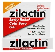 Zilactin - Early Relief Cold Sore Gel - 0.25 oz.