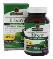 Nature's Answer - Bilberry Extract 25% Anthocyanosides - 90 Vegetarian Capsules