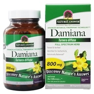 Nature's Answer - Damiana Leaf Single Herb Supplement - 90 Vegetarian Capsules