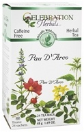Celebration Herbals - Ethically Wildcrafted Caffeine Free Pau D'Arco Herbal Tea - 24 Tea Bags
