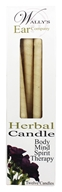 Wally's Natural Products - Paraffin Multi-Purpose Hollow Candles Herbal - 12 Pack