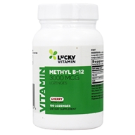 LuckyVitamin - Methyl B-12 Cherry Flavored 3000 mcg. - 100 Lozenges