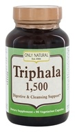 Only Natural - Triphala Digestive & Cleansing Support 1500 mg. - 90 Vegetarian Capsules