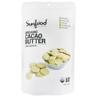 Sunfood Superfoods - Raw Organic Cacao Butter 454 g. - 1 lb.
