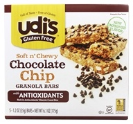 Udi's - Gluten Free Soft n' Chewy Granola Bars Chocolate Chip - 5 Bars