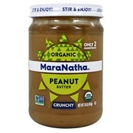 MaraNatha - Organic Roasted Peanut Butter Hint of Sea Salt Crunchy - 16 oz.