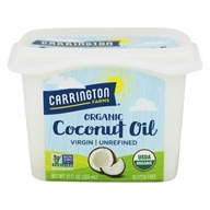 Carrington Farms - 100% Organic Pure Unrefined Cold Pressed Extra Virgin Coconut Oil - 12 oz.
