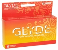 Glyde - Premium Ethical and Vegan Latex Condoms Slimfit Snug Fit - 12 Pack