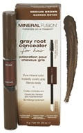 Mineral Fusion - Gray Root Concealer For Hair Medium Brown - 0.28 oz.