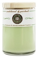 Terra Essential Scents - Massage & Aromatherapy Soy Candle Sandalwood & Patchouli - 2.5 oz.