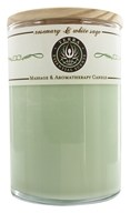 Terra Essential Scents - Massage & Aromatherapy Soy Candle Rosemary & White Sage - 12 oz.