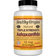 Healthy Origins - Natural Astaxanthin Triple Strength 12 mg. - 60 Softgels